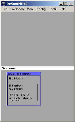 Window System Demo Screenshot
